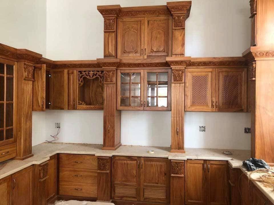 Chuyên thi công đóng tủ bếp gỗ tự nhiên cao cấp, giá rẻ tại Bình Dương