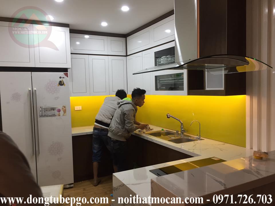 đóng tủ bếp tại tphcm rẻ tại nội thất Mộc An