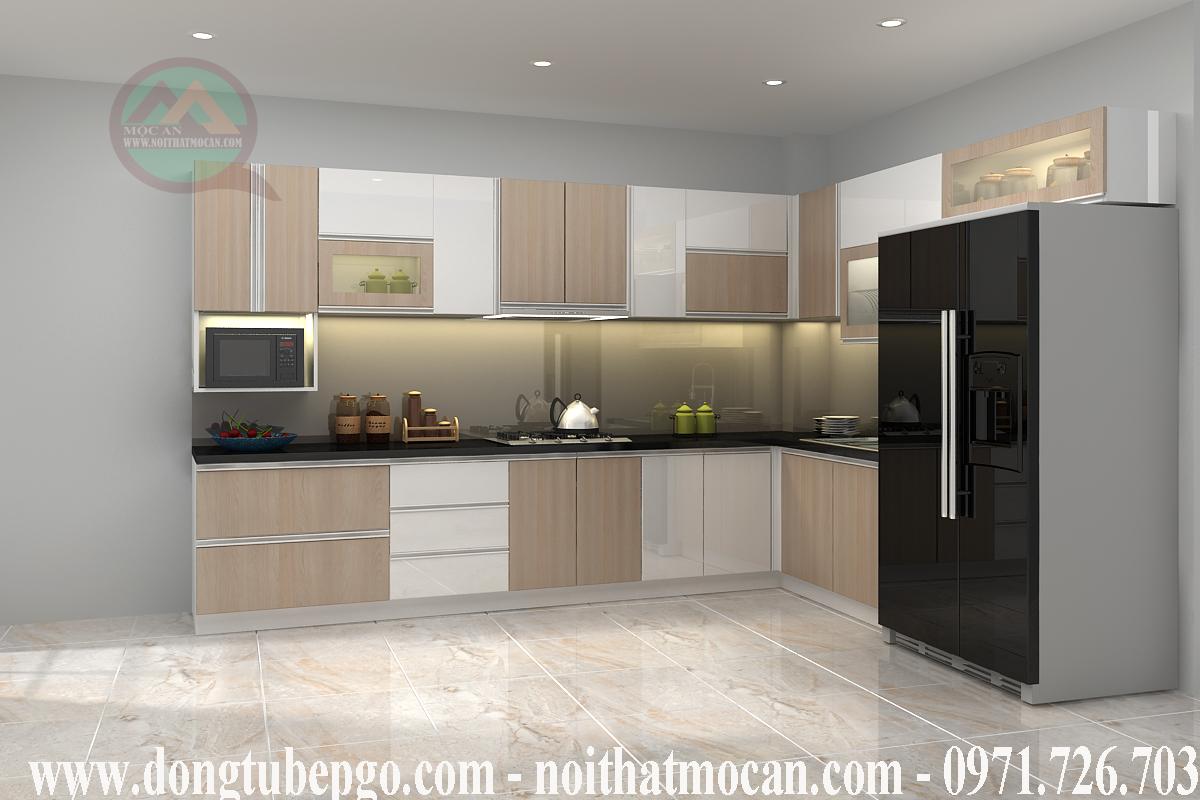 Phòng đẹp hơn với những mẫu tủ kệ bếp hiện đại