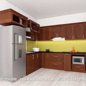 Tủ bếp căm xe tự nhiên MAC 4