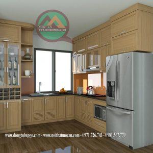 Thiết Kế Tủ Bếp Gỗ Sồi MAS-03