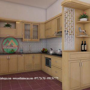 Thiết Kế Tủ Bếp Gỗ Sồi MAS-04
