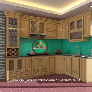 Thiết Kế Tủ Bếp Gỗ Sồi MAS-05