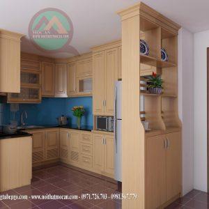 Thiết Kế Tủ Bếp Gỗ Sồi MAS-07