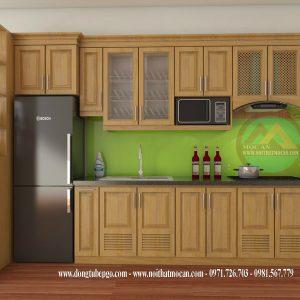 Thiết Kế Tủ Bếp Gỗ Sồi MAS-08