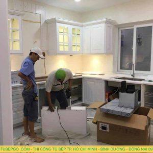 Thi công nội thất gỗ và tủ bếp gỗ tại Phú Mỹ Hưng, Q7