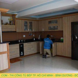 Thi công tủ bếp cao cấp ở Thành Phố Mới, Bình Dương