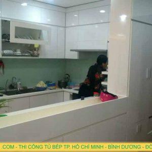 Thi công tủ bếp chung cư ở Phường 12, Q6 Thành Phố Hồ Chí Minh