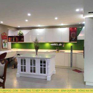Thiết kế kệ bếp Bình Thạnh đẹp, tủ bếp Phường 1 Bình Thạnh
