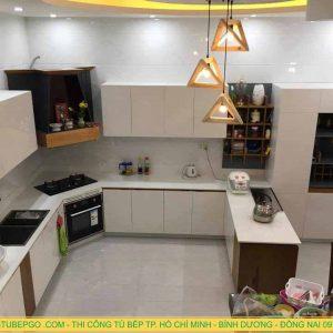 Tủ bếp Acrylic An Cường đẹp và chất lượng ở Quận 7