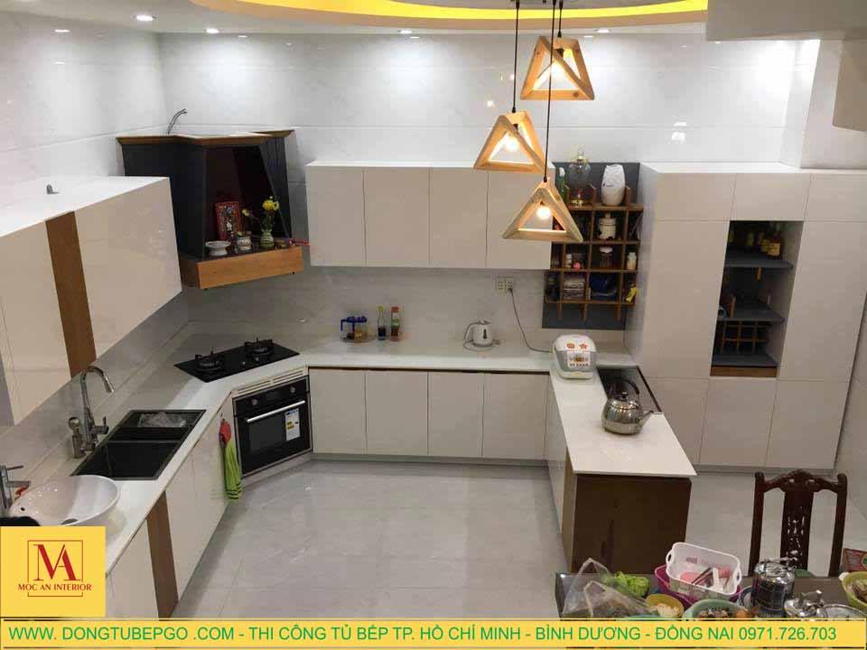 Tủ bếp Acrylic An Cường đẹp và chất lượng ở Quận 7.