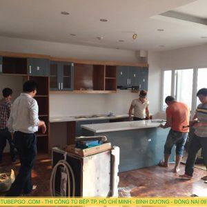 Báo giá thi công tủ bếp laminate An Cường tại TpHCM