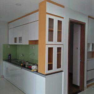 Đóng tủ bếp gỗ tại quận 7 – tphcm