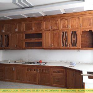Đơn vị dóng tủ bếp gỗ gỏ đỏ uy tín và chất lượng tại hcm MAD 102