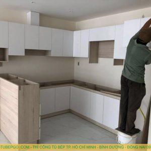 Thiết kế và thi công tủ bếp gỗ công nghiệp tại bình chánh