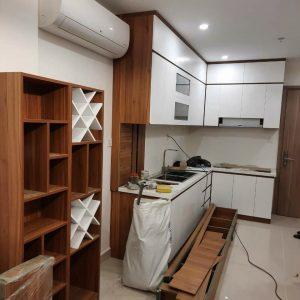 Tủ bếp gỗ công nghiệp melamine quận 9 MAM 012