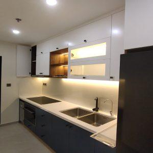 Tủ bếp gỗ sơn PU 2k tại quận 1 MAS 635