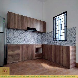 Tủ bếp gỗ công nghiệp giá rẻ tại quận 7 MAA-715